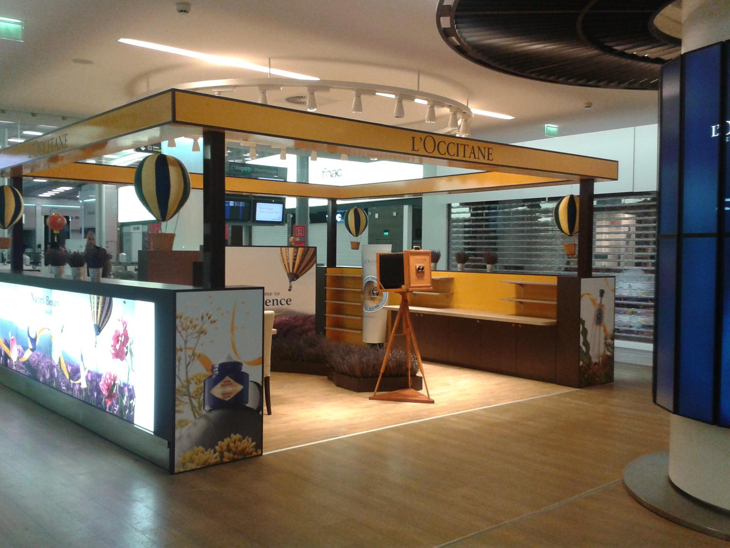 pop up store l'occitane aéroport de roissy charles de gaulle