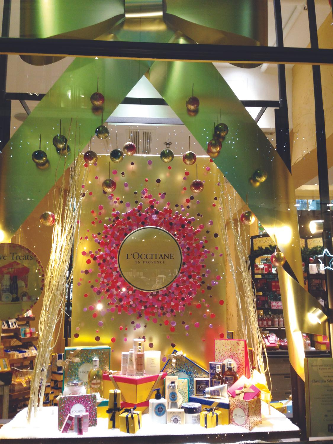 L'Occitane window display