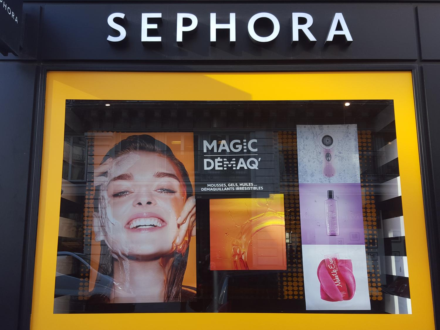 Vitrine Sephora-Magic Démaq