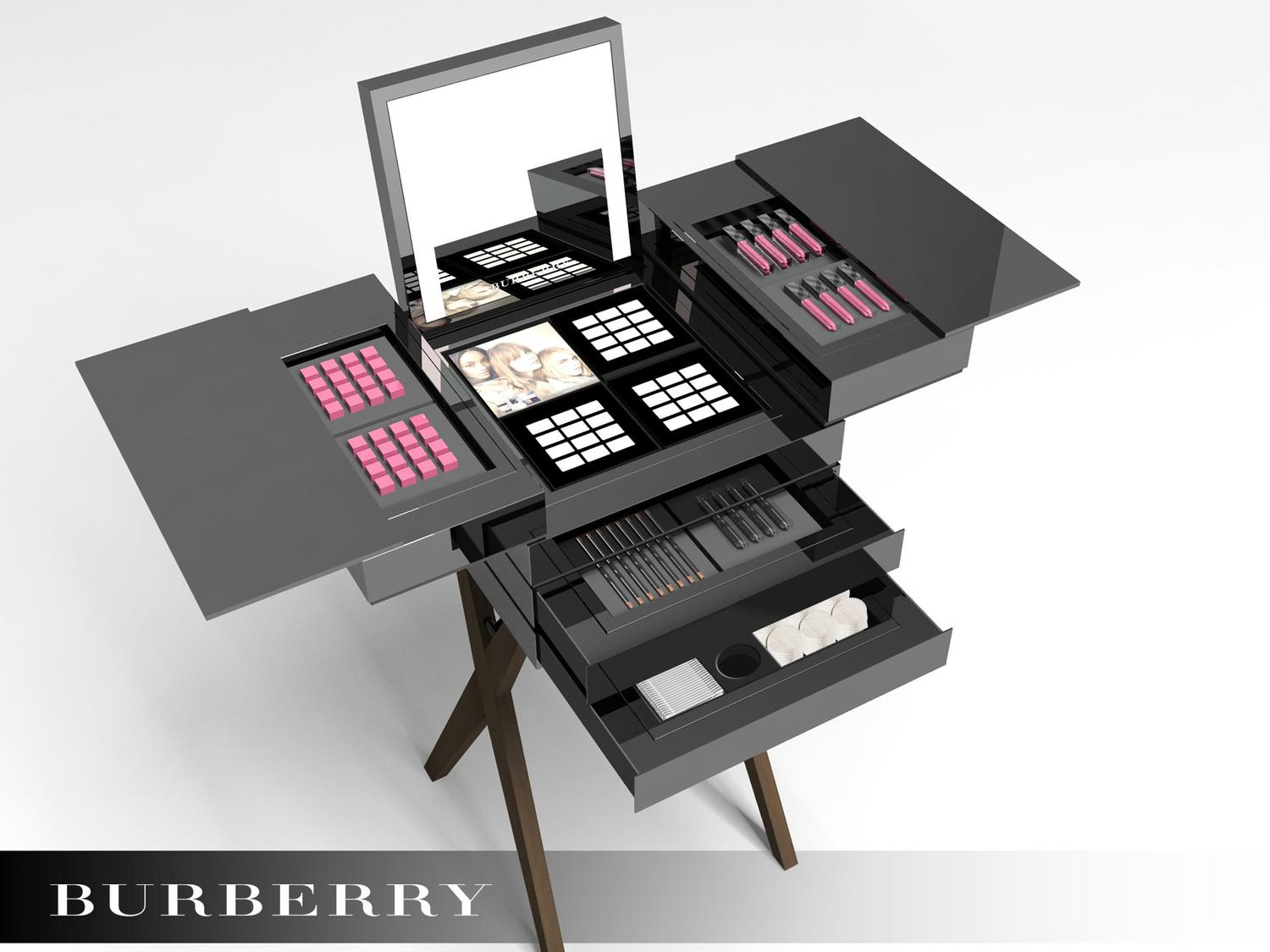 meuble de rangement make up - burberry
