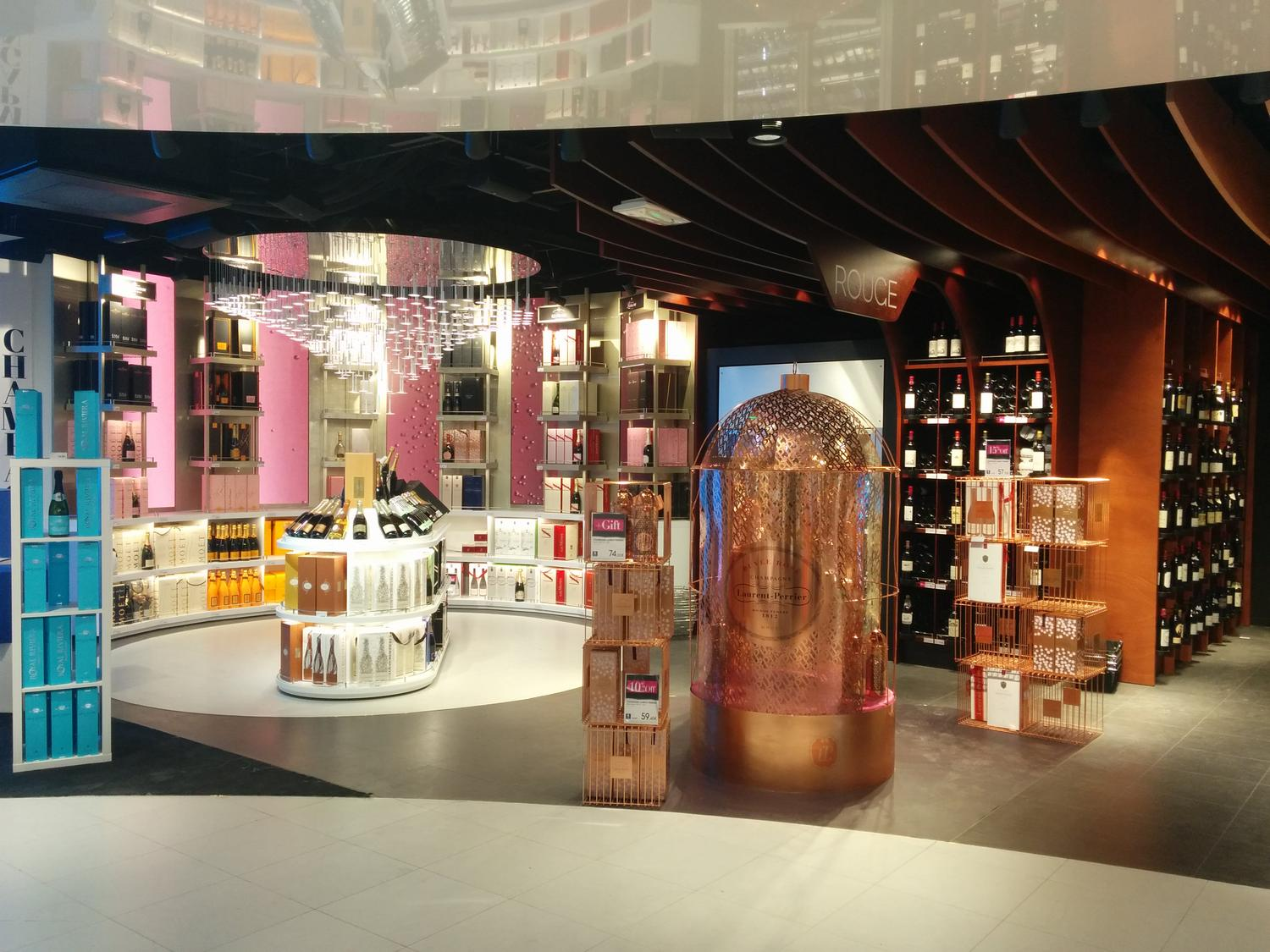 mobilier commercial, architecture commerciale en travel retail