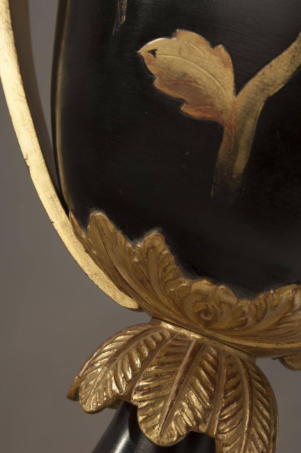 Louis XVI black and gold cups