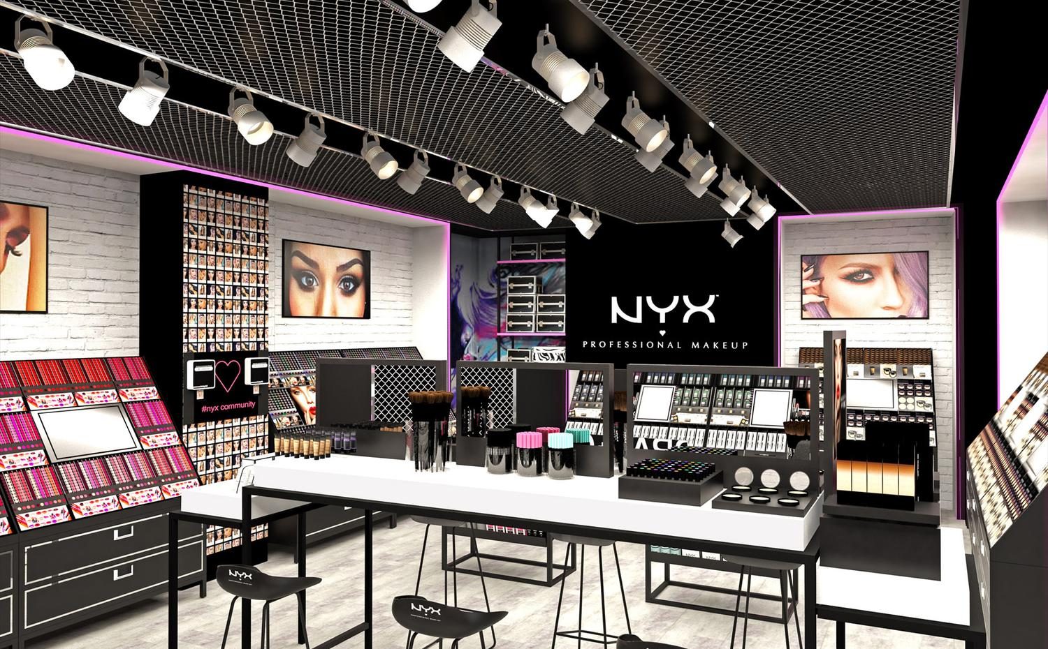 design concept boutique NYX make up