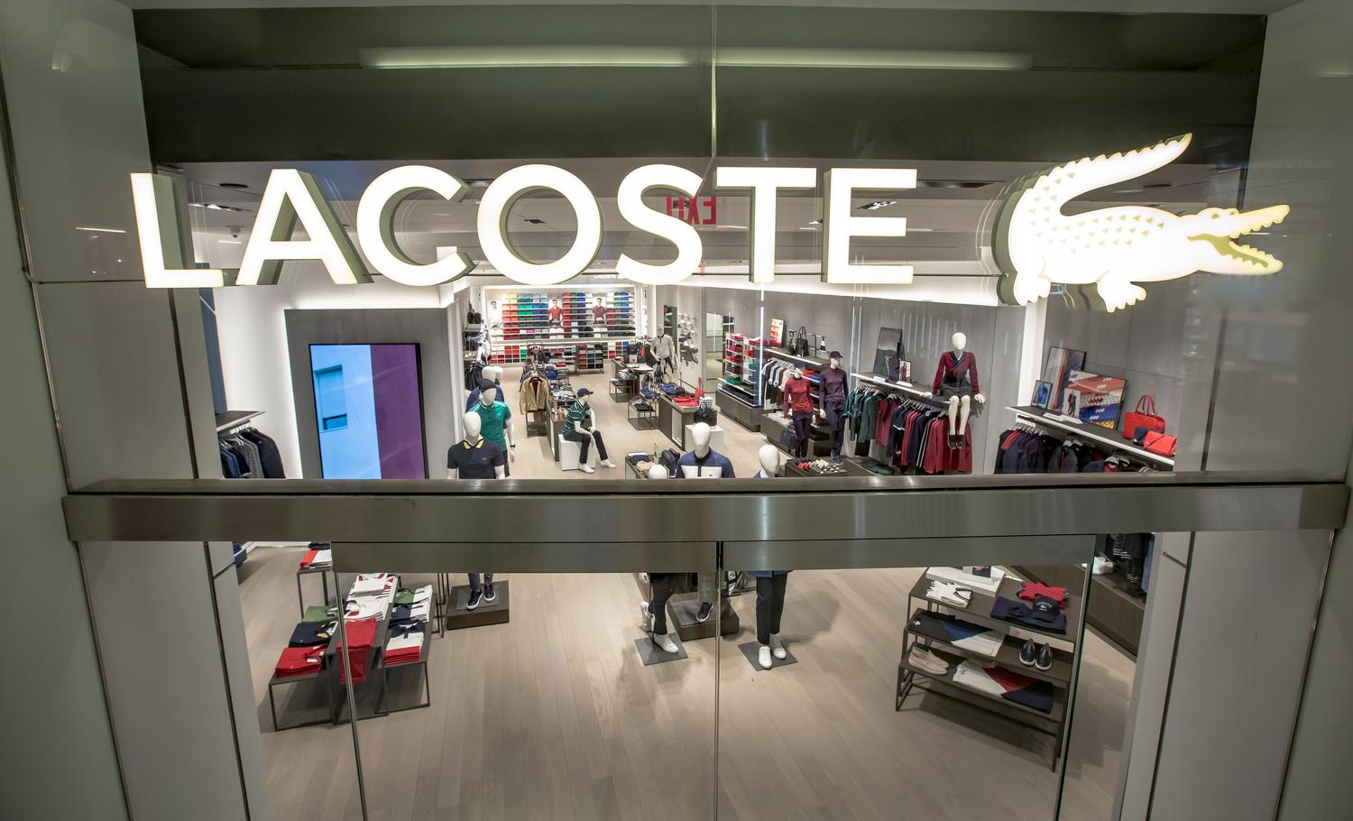 agencement boutique lacoste new york